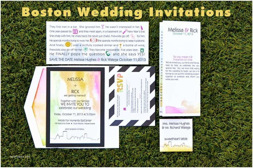 Wedding Invitations Boston Trending Tuesday Boston themed Wedding Invitations