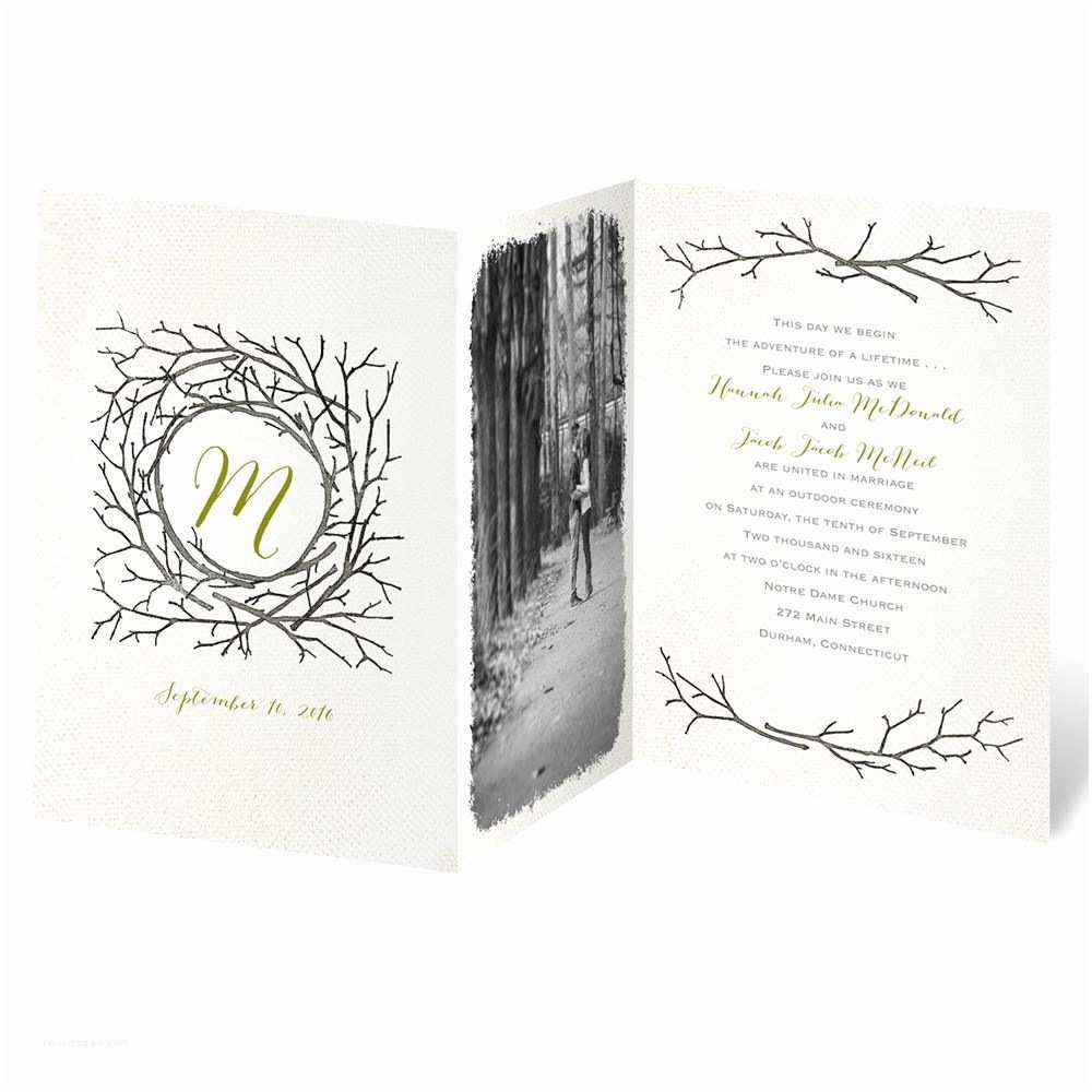 Wedding Invitations by Dawn Beneath the Branches Invitation