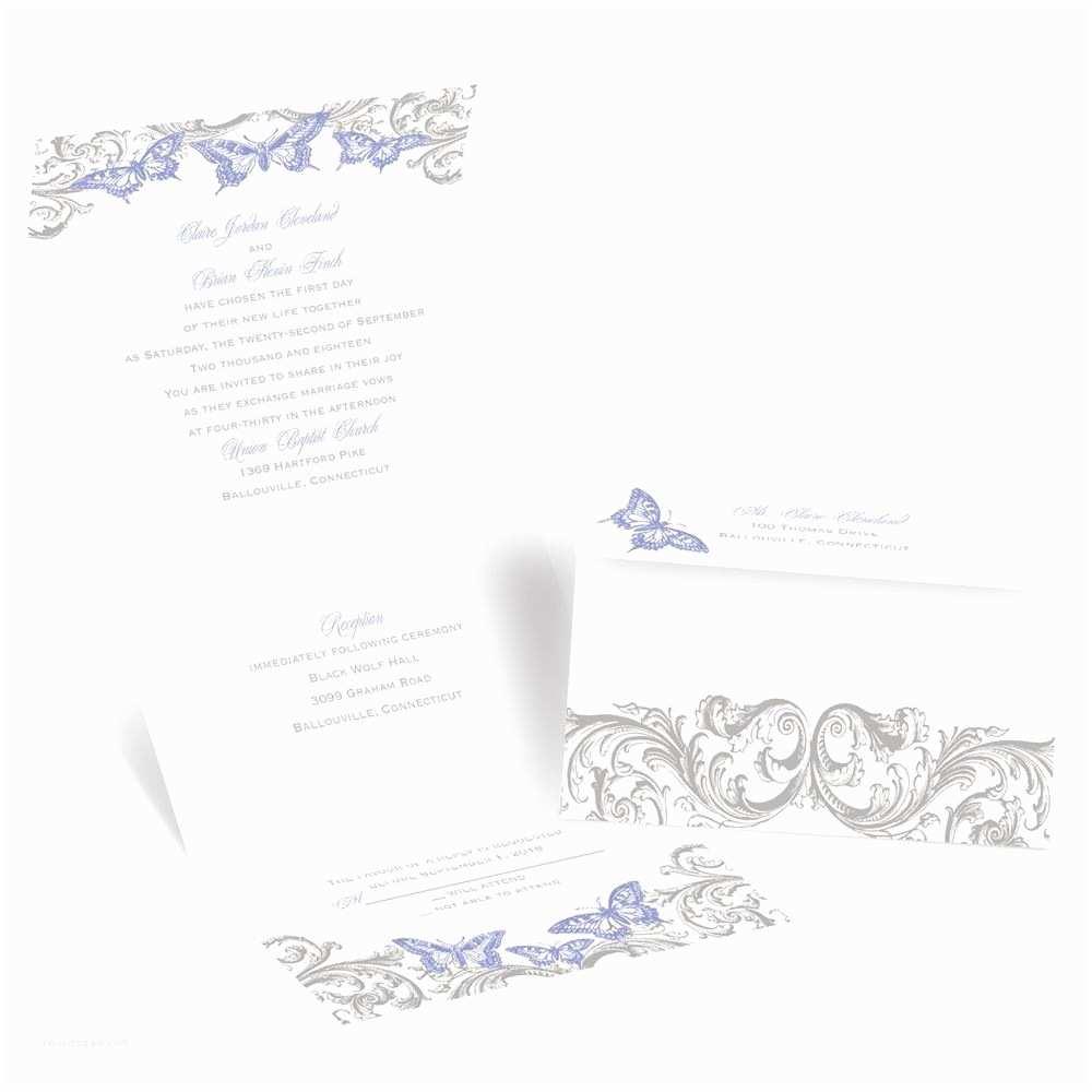 Wedding Invitations by Dawn Love Takes Flight Seal and Send Invitation