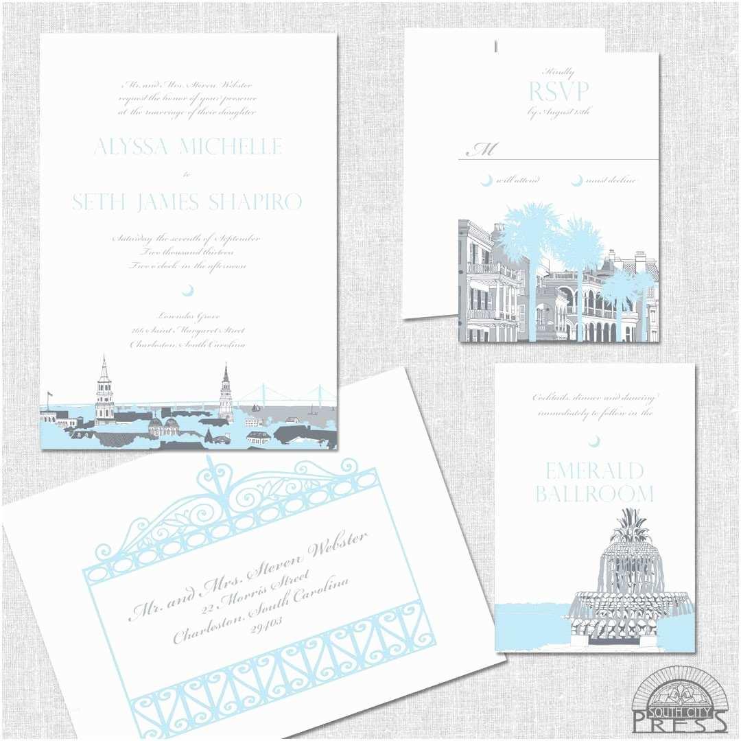 Wedding Invitations Charleston Sc Charleston Invitation Sample Wedding Invitations by