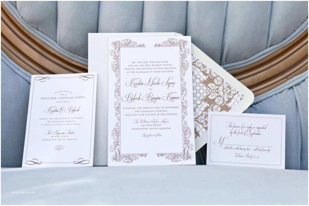 Wedding Invitations Charleston Sc Elegant Gold Invitations for Charleston Wedding Dodeline