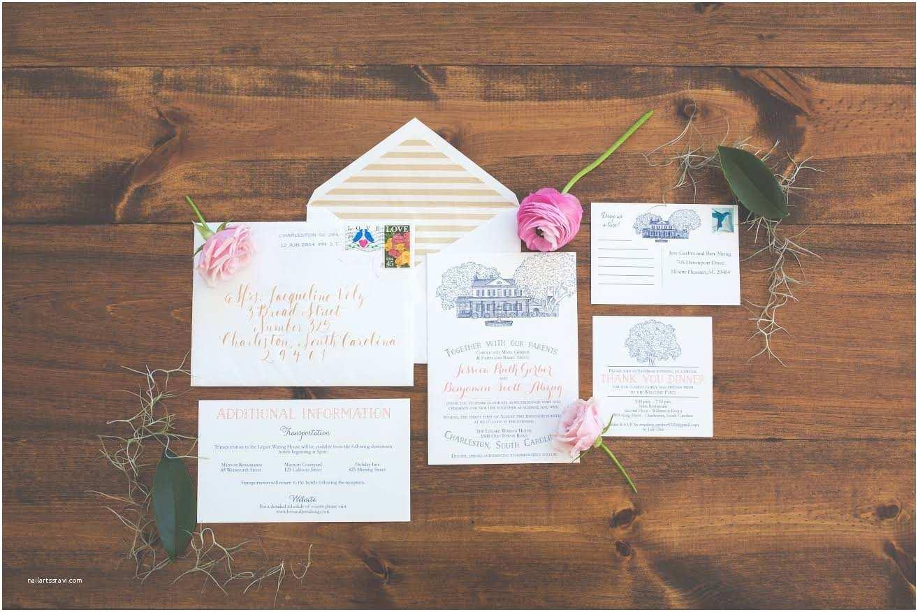 Wedding Invitations Charleston Sc Legare Waring House Wedding Invitation – Scotti Cline Designs