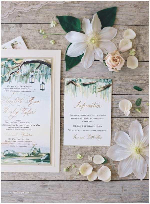 Wedding Invitations Charleston Sc Romantic south Carolina Wedding by Lovely Little Details