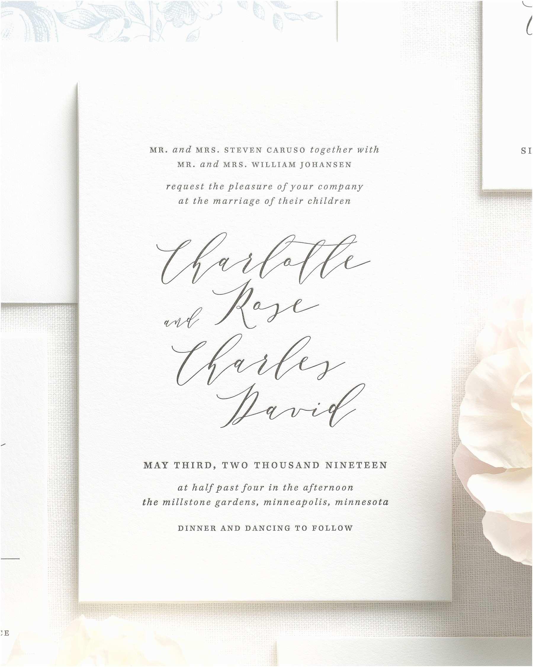 Wedding Invitations Charlotte Nc Charlotte  Wedding Invitations