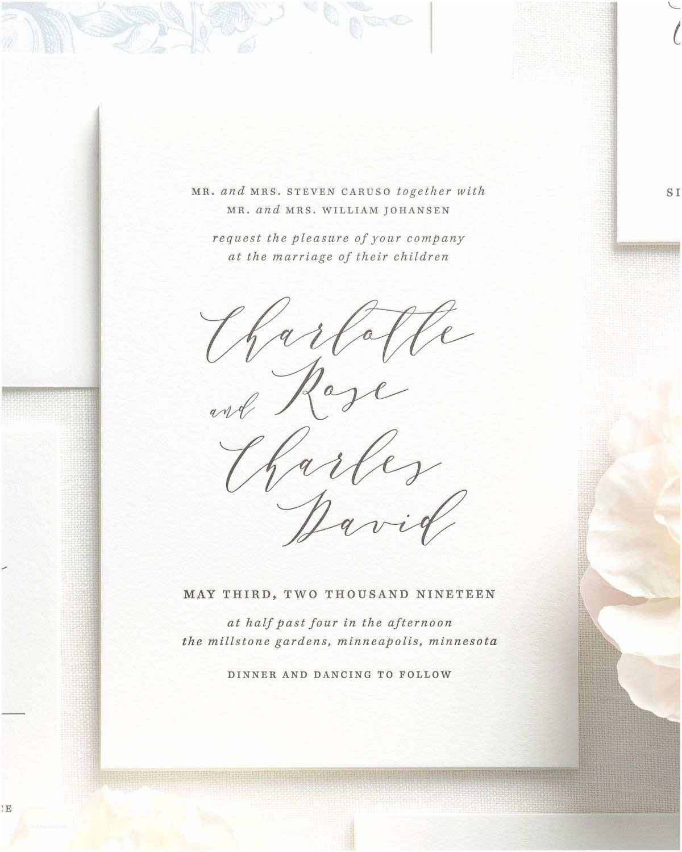 Wedding Invitations Charlotte Nc Charlotte Letterpress Wedding Invitations Letterpress