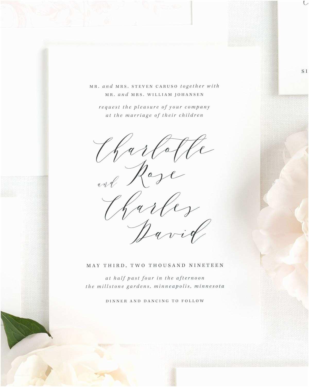 Wedding Invitations Charlotte Nc Charlotte Wedding Invitations Wedding Invitations By