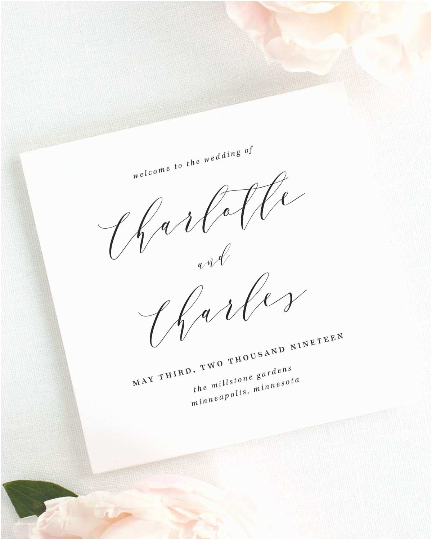 Wedding Invitations Charlotte Nc Charlotte Wedding Programs Wedding Programs by Shine