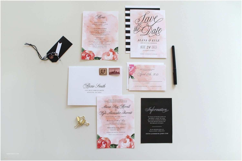 Wedding Invitations Charlotte  Modern Wedding Invitations Charlotte