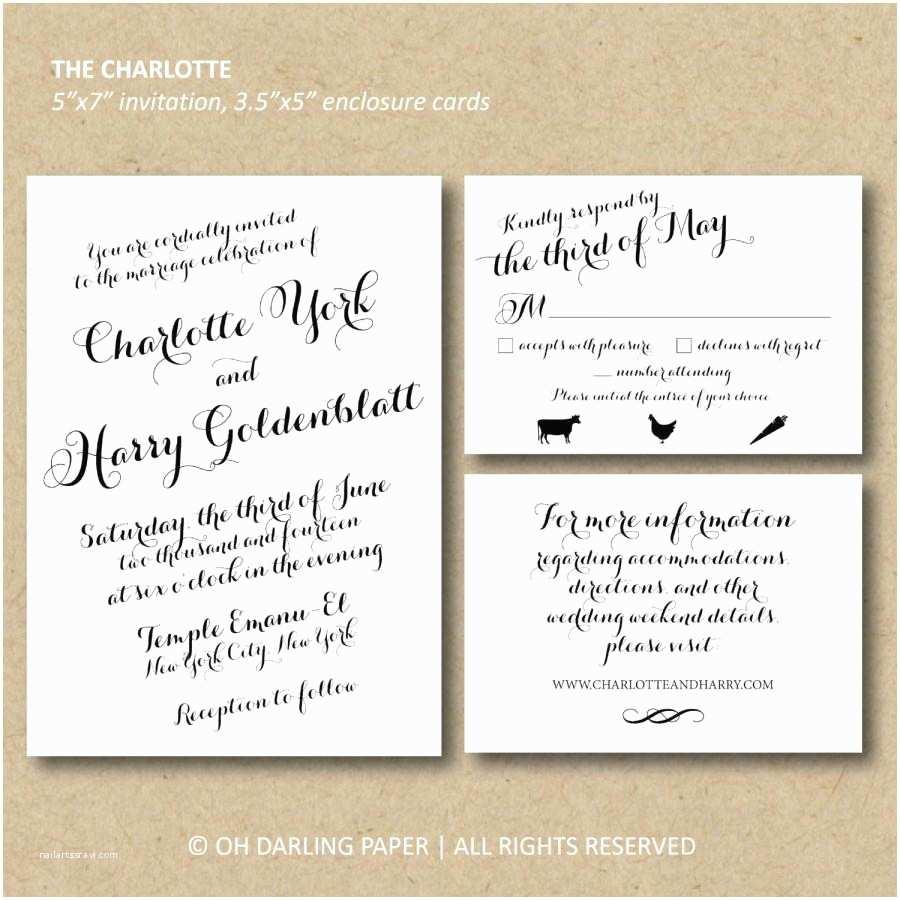 Wedding Invitations Charlotte Nc Printable Wedding Invitation The Charlotte