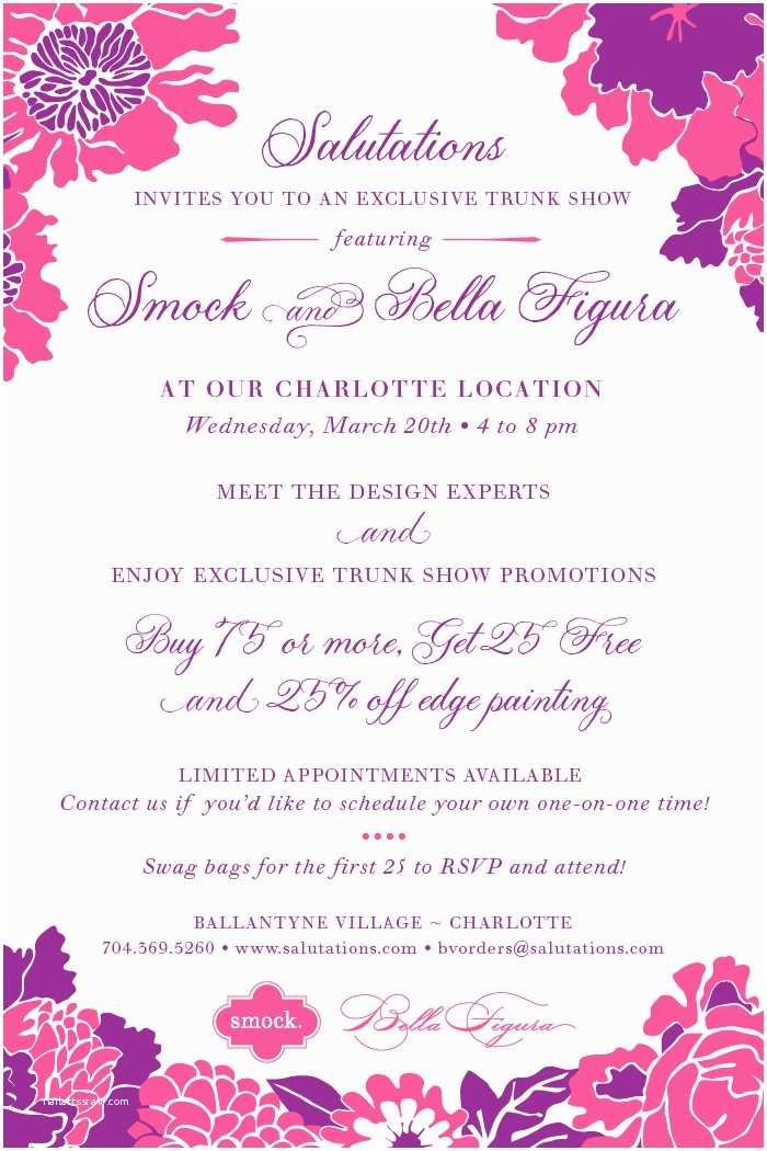 Wedding Invitations Charlotte Nc Salutations Wedding Invitation Trunk