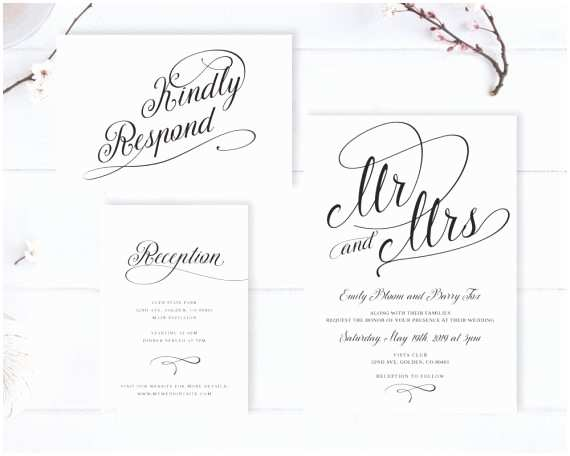 Wedding Invitations Cheap Cheap Wedding Invitations with Rsvp Under $2 or Less