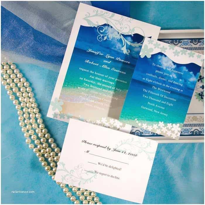 Wedding Invitations Cheap Modern Seaside Summer Beach Wedding Invitations Ewi038 as
