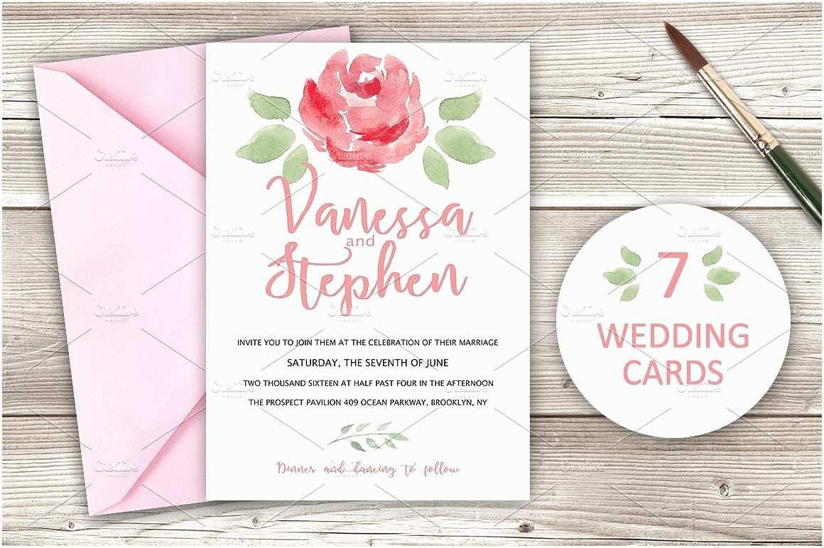 Wedding Invitations Cheap Packs Wedding Invitations Pack 7 Cards Invitation Templates