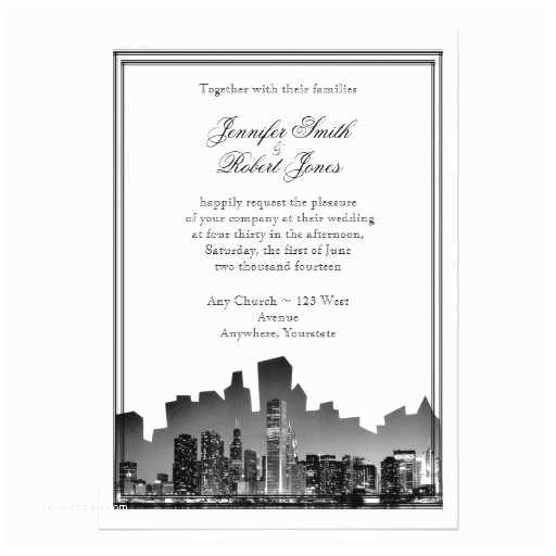Wedding Invitations Chicago Chicago Destination Wedding Invitation