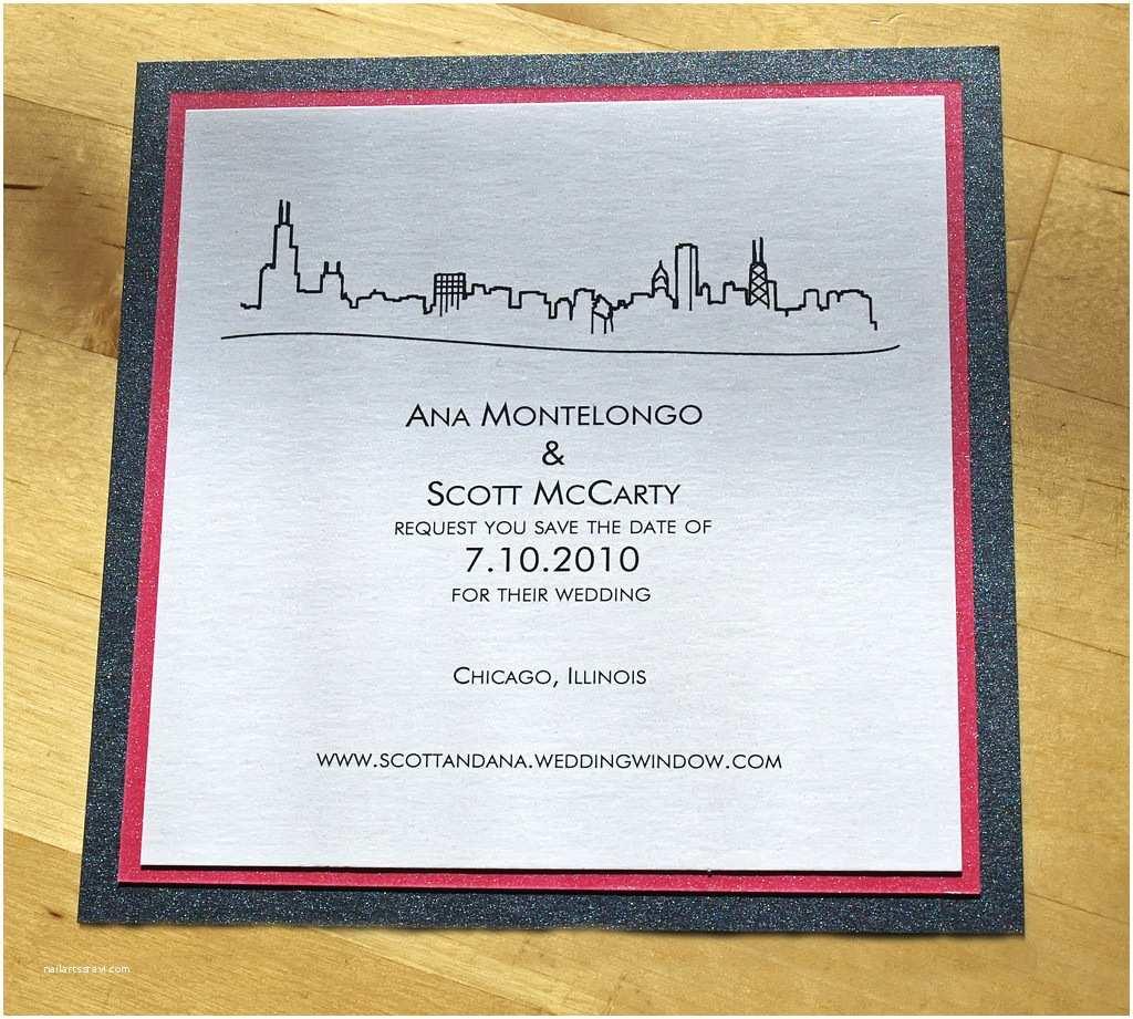 Wedding Invitations Chicago Chicago Skyline themed Wedding Stationery Invitations