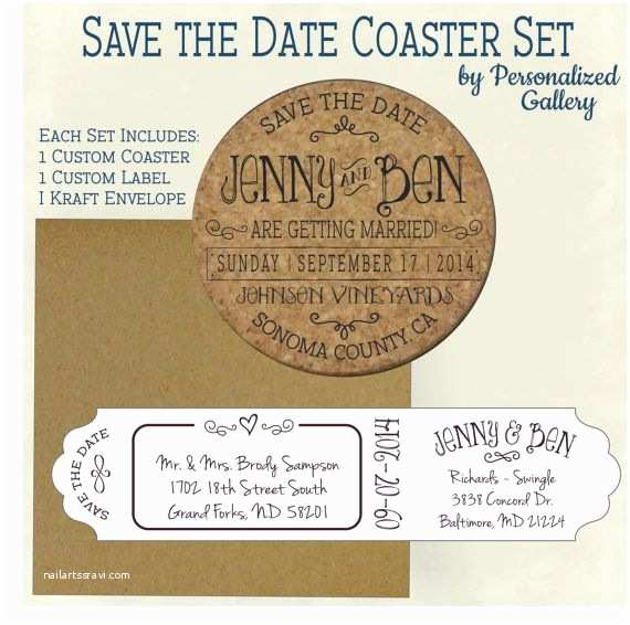 Wedding Invitations Cork Custom Save the Date Invitation Cork by