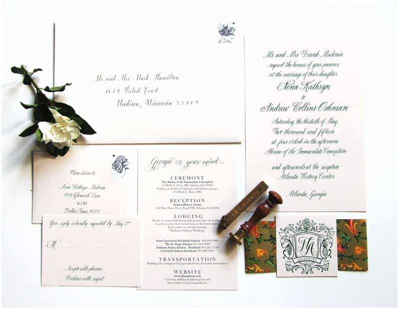 Wedding Invitations Dallas Classic Southern Wedding Invitations