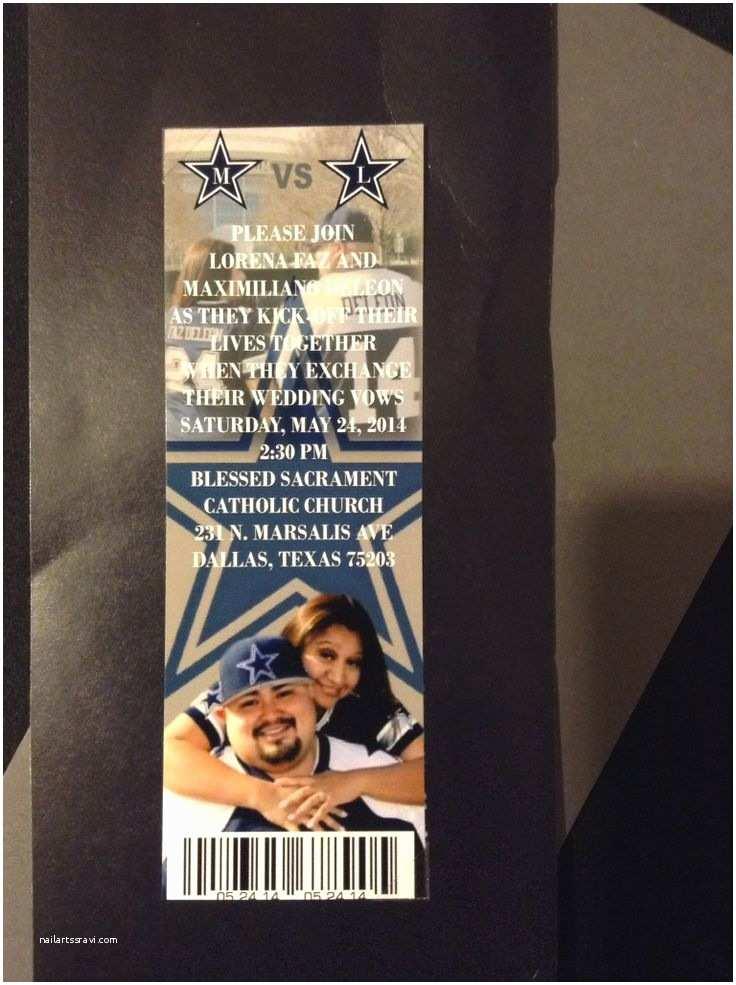 Wedding S Dallas Dallas Cowboys Ticket Wedding
