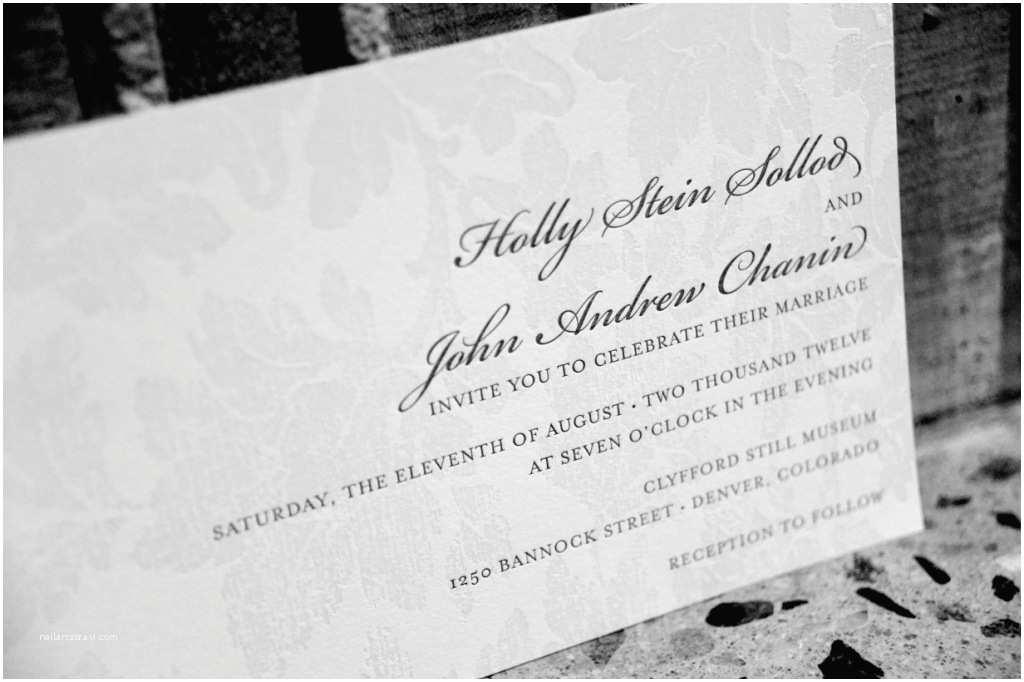Wedding Invitations Denver Cloud 9 Denver Wedding Clyfford Still Museum