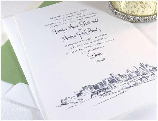 Wedding Invitations Denver Denver Skyline Wedding Invitations