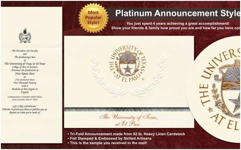 Wedding Invitations El Paso Tx Utep Graduation Invitations Cobypic