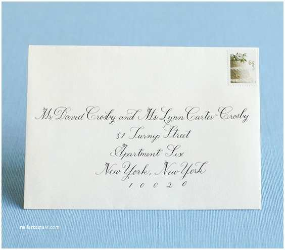Wedding Invitations Etiquette Addressing Envelopes Hyphenated Last Name