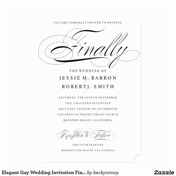 Wedding Invitations For Gay Couples 22 Best Gay & Lesbian Wedding Invitations Images