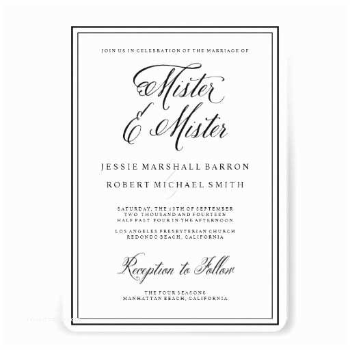 Wedding Invitations for Gay Couples 29 Best Gay Wedding Invitations Images On Pinterest