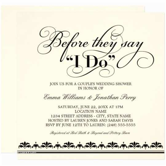 Wedding Invitations for Gay Couples Couple S Wedding Shower Invitation Wedding Vows