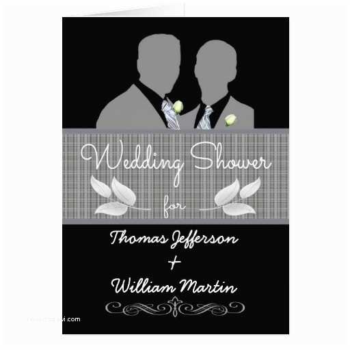 Wedding Invitations for Gay Couples Custom Gay Wedding Shower Invitation