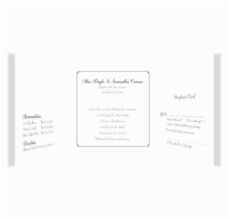 Wedding  For Gay Couples Mrs & Mrs Tri Fold Wedding Invite & Rsvp Loving