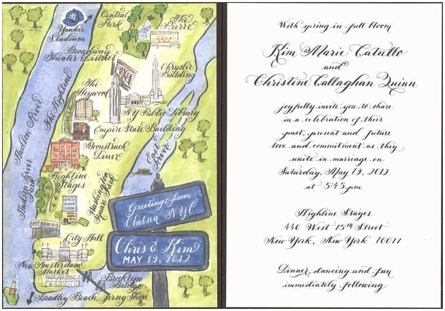 Wedding Invitations For Gay Couples The Wedding Invitation Of Christine C Quinn And Kim