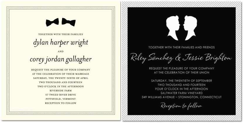 Wedding Invitations for Gay Couples Wedding Paper Divas Launches Lgbt Wedding Invitation