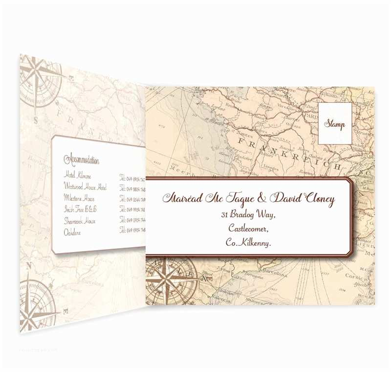 Wedding Invitations for Less Than A Dollar Around the World Tri Fold Wedding Invite & Rsvp Loving
