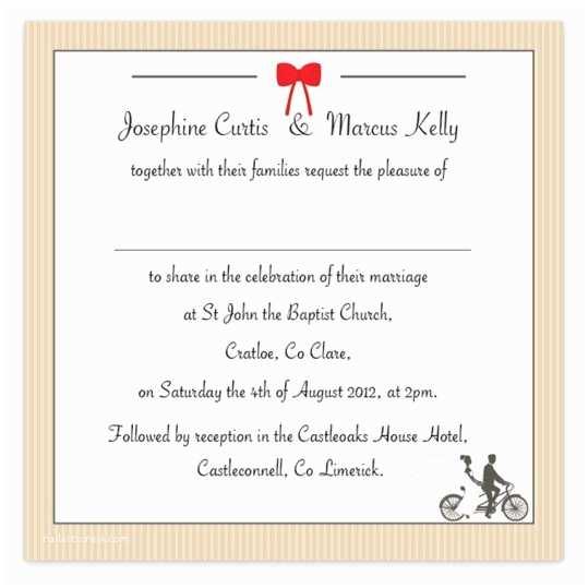 Wedding Invitations for Less Than A Dollar Tandem Couple Flat Wedding Invite Loving Invitations