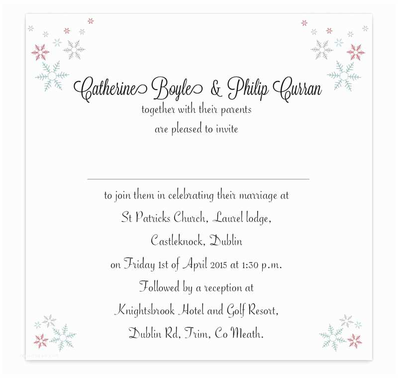 Wedding Invitations for Less Than A Dollar Winter Romance Flat Wedding Invitation Loving Invitations