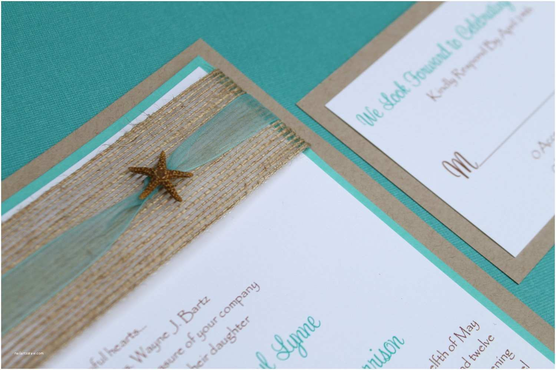 Wedding Invitations for Under $1 Beach Wedding Invitation Seaside Invitation by Decadentdesigns