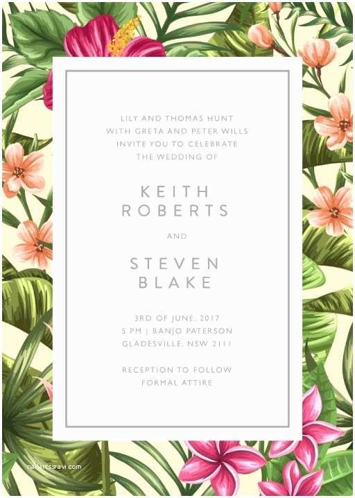 Wedding Invitations for Under $1 Floral Wedding Invitations Wedding Invites & Cards