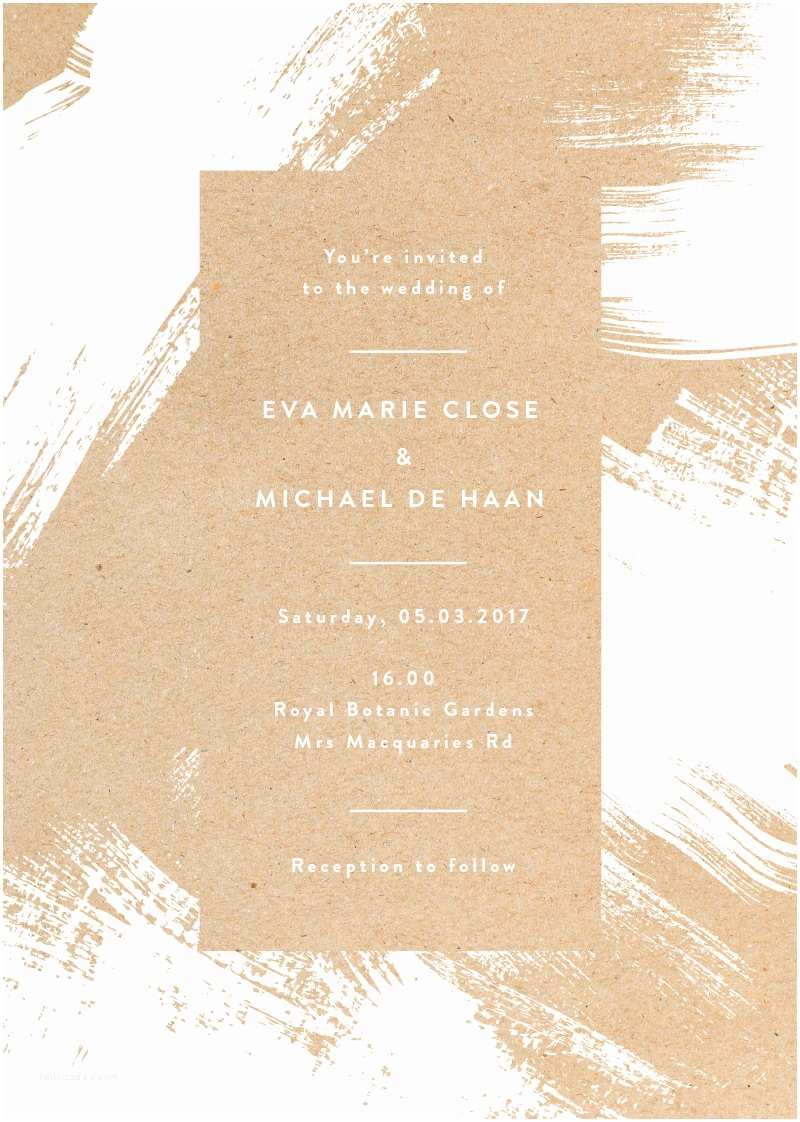 Wedding Invitations for Under $1 White Paint White Ink