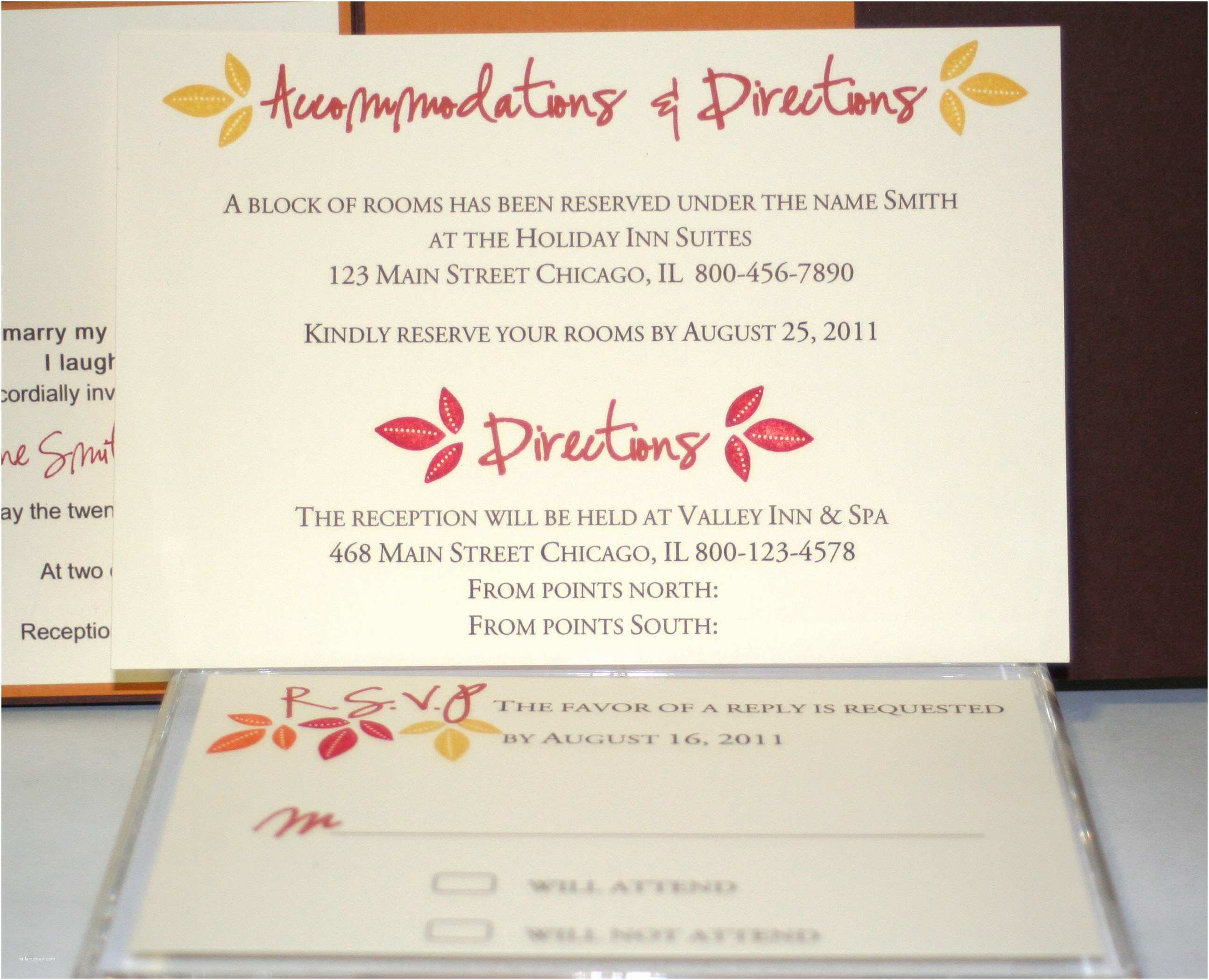 Wedding Invitations Hotel Accommodation Cards Invite Wording On Pinterest