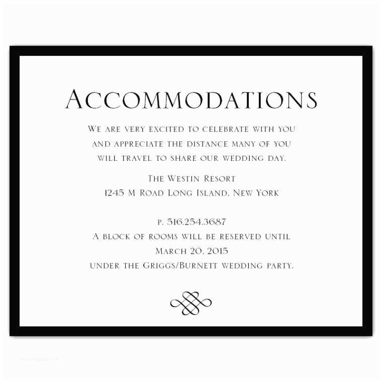 Wedding Invitations Hotel Accommodation Cards Wedding Invitation Ac Modation Card Wording