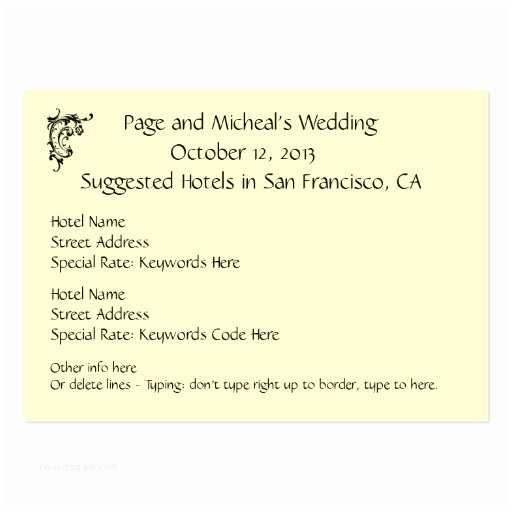 47 Wedding Invitations Hotel Accommodation Cards