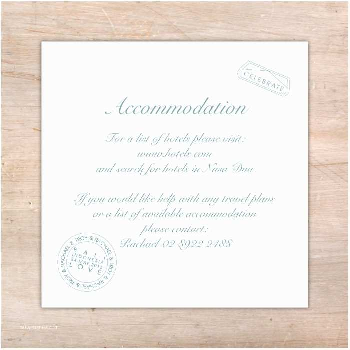 Wedding Invitations Hotel Accommodation Cards Wedding Invitations Hotel Ac Modation Cards