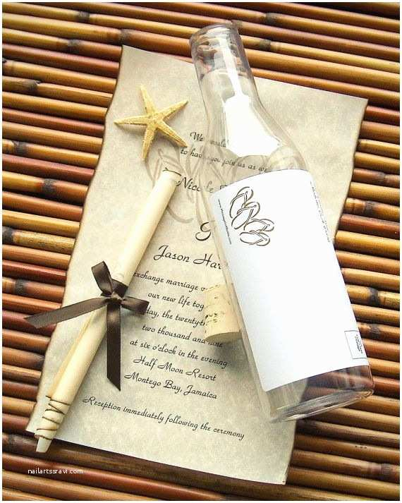 Wedding Invitations In A Bottle 17 Best Images About Beach Wedding On Pinterest