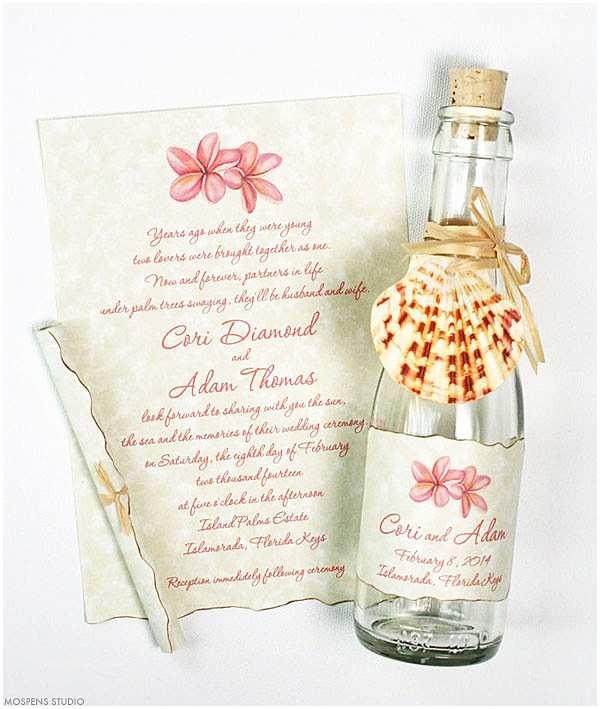 Wedding Invitations In A Bottle 21 Bottle Beach Wedding Invitation Ideas