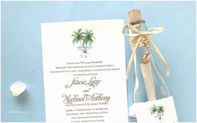 Wedding Invitations In A Bottle Beach Wedding Invitations Archives