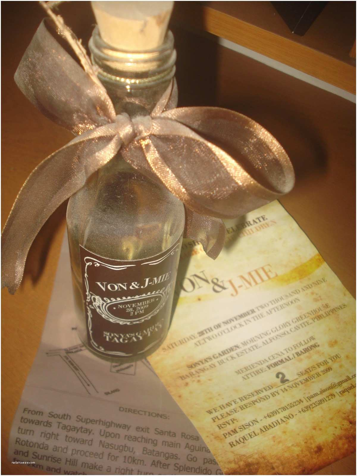 Wedding Invitations In A Bottle Tipid Party Wedding Invitation In A Bottle