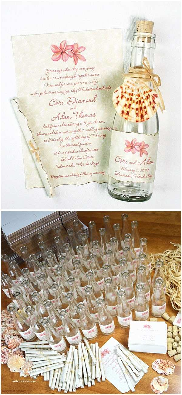 Wedding Invitations In A Bottle Tropical Beach Wedding Invitations In A Bottle Mospens