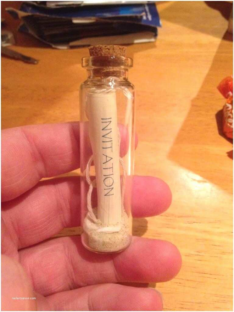 Wedding Invitations In A Bottle Wedding Invitation In A Bottle I Don T Usually Post