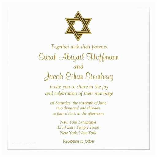 Wedding Invitations In Hebrew and English Star Of David Jewish Wedding Invitation Collection